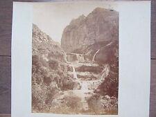 GRANDE PHOTO ANCIENNE 1890 CASCADE DE SIDI MECID CONSTANTINE ALGERIE