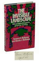 The Invisible Landscape ~ SIGNED by TERENCE McKENNA ~ First Edition 1975  Dennis