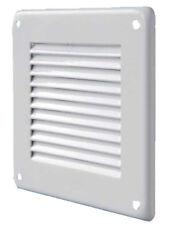 Bocchetta ventilazione lamiera verniciata griglia aria colore bianco mm. 140x140