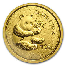 2000 China 1/10 oz Gold Panda Frosted BU (Sealed) - SKU #13411