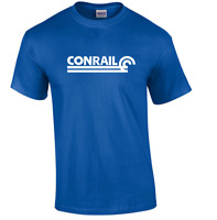 White Conrail Logo on Royal Blue T-shirt Defunct Railroad Train Tee Shirt