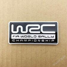 Metal Chrome WRC World Rally Championship Car Metal Emblems Badge Decal Sticker