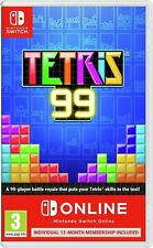 Tetris 99 Nintendo Switch Game & Nintendo Switch Online Subscription