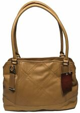 NWT Tignanello Woman's Leather Satchel, Cognac Color, Gold-Toned Hardware