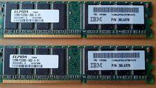 2 x 512MB DDR SDRAM 400 PC3200-0300-0-B1 IBM 38L4378 FRU 73P2684 184PIN PAIR RAM
