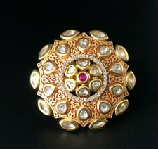 Red Meenakari Ring,Kundan Statement Ring,Indian Wedding Ring,RedTraditional Ring