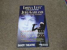 Lorna LUFT Celebrates Judy GARLAND Songs Mother Taught me SAVOY Theatre Poster