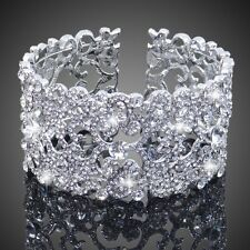 Silver Bridal/Bridesmaid Wedding/PartyAustrian Crystal Bracelet Bangle Jewellery