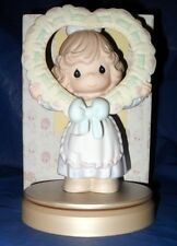 """PRECIOUS MOMENTS FIGURINE  """"GIVE YOUR WHOLE HEART""""   SIGNED BY:GENE FREEDMAN"""