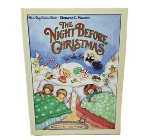 VINTAGE GOLDEN THE NIGHT BEFORE CHRISTMAS CHILDRENS HARD BOOK CLEMENT C MOORE
