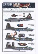 Kits World Decals 1/72 Boeing B-17F Flying Fortress 8th Air Force Nose Art
