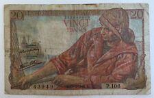 Billet De Banque 20 Francs Pêcheur  De 10-2-1944 P.106 Voir Photos