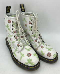 Dr Martens Womens 1460 Boots Sz UK4 US5  Pink Leather Vintage Rose Butterfly