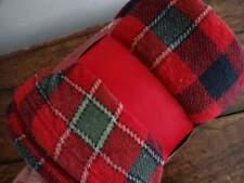 Ralph Lauren Red Black Gray Plaid Cozy Fleece Throw Blanket
