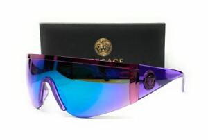 VERSACE VE2197 146455 Violet Green Mirror Blue Men's Sunglasses 40 mm