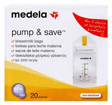 Medela Pump & Save Breastmilk Bags 20 pieces Bpa Free- Freezer Safe & Amp