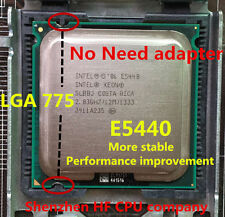 Intel Xeon E5440 2.83GHz Core 2 Quad Q9550 CPU,works on LGA775 no need adapter