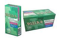 Rizla Filter Tips Ultra Slim Menthol Full Box Of 20 Packets