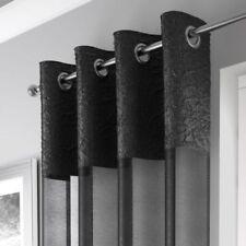 Rideaux et cantonnières voilages œillet supérieur noirs pour la maison