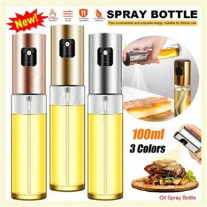 100ML Spray Oil Olive Empty Bottle Glass Vinegar Soy Sauce Dispenser For BBQ