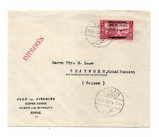 """LIBAN USED Cover to SUISSE - """"ASILE DES AVEUGLES"""" GHAZIR POSTMARK LOT ( 016)"""