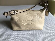 Coach Leatherware Est 1941 Small Light Cream Tan Handbag Clutch Purse VHTF REAL