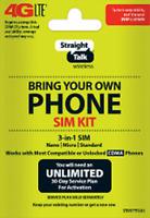Straight Talk Bring Your Own Phone BYOP Verizon Sim Card Activation Kit 4G LTE