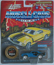 Johnny Lightning -'71/1971 Plymouth HEMI Cuda Blu Nuovo/Scatola Originale