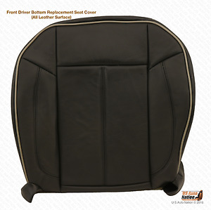 2006 2007 2008 2009 2010 Hummer H3 Driver Bottom Leather Seat Cover Black