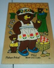 Fisher Price Bear and Cubs Wooden Puzzle 506 Vintage 1979