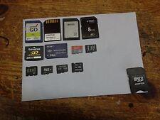 Las tarjetas de memoria de trabajo mixto Lote de 12 Teléfonos Móviles Cámaras usado comprimidos 3