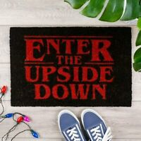 OFFICIAL STRANGER THINGS ENTER THE UPSIDE DOWN DOORMAT DOOR MAT FAN GIFT HIM HER