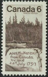 canada stamps - 1970 - sir alexander mackenzie 6c sg658 Mint NH - scott516