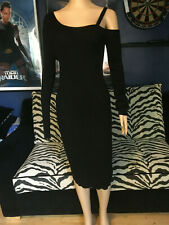 Lost Ink Dress Size 18 Bodycon Stretch Black Long Sleeves