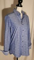 Robert Graham Mauser Car Embroidered Classic Fit Tailored Fit Shirt M