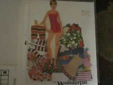 cutout 1967 twiggy  paper doll and  fashions