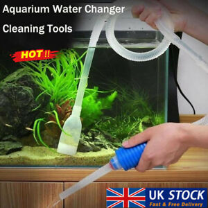 Siphon Hose Cleaner Fish Tank Aquarium Gravel Clean Pump Vacuum Syphon Kit UK