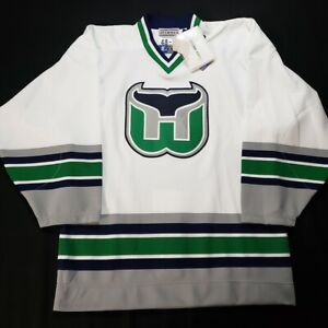 NWT Hartford Whalers Starter Authentic White NHL Hockey Jersey - Size 48