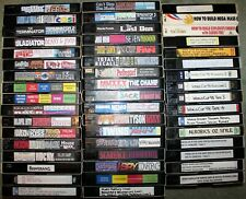 BULK LOT OF 50 BLANK VHS TAPES (RECORDED ON)