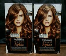 2 L'Oréal Paris Superior Preference Glam Lights #GL50 Medium Brown to Dark Brown
