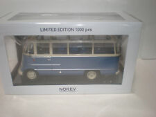 1/18 Norev 1960 Mercedes Benz O.319 small bus Blue/Beige