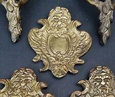 1 Only Antique Bacchus Ornate Rococo Gilt Bronze Decorative Furniture Mount