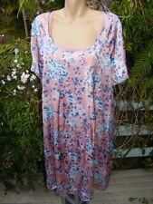 Styish Maternity Dress Target Size 16 Pink/blue. With Cami Slip