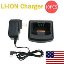 10Pc Rapid Charger Compatible for Motorola Cp110 Ep150 A10 A12 Rdm2020 Rdm2050