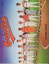 Baltimore Orioles Scorebook Magazine 1989 Brooks Robinson 072517nonjhe