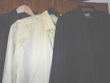 Drei Oberhemden,Violett, Schwarz, Gelb, KW 44, 2 x Babista, Angelo Litrico, XL