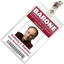 The Sopranos Tony Soprano Barone Sanitation ID Badge Name Tag Card Costume TS-1
