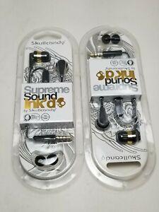 Skullcandy Ink'd 2 Earbuds - Black/Gold - 2 Pack