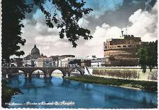 ROMA - PONTE E CASTEL S. ANGELO - V 1961 - ACQUERELLATA - FG