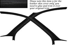 Negro Stitch cabe Ford Focus Mk1 98-04 3 Puertas 2x Parabrisas un « pilar » incluye